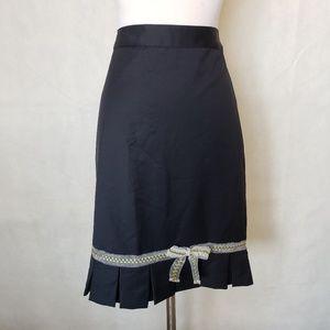 BANANA REPUBLIC wool pleated bottom skirt